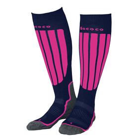 Gococo Compression Skiing Socks Navy/Cerise